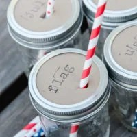 4th of July Mason Jar Drink Toppers | oldsaltfarm.com