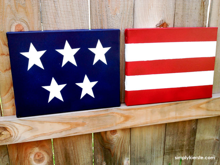 DIY Canvas Flag Decor | oldsaltfarm.com