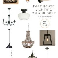 Farmhouse Lighting on a Budget | oldsaltfarm.com