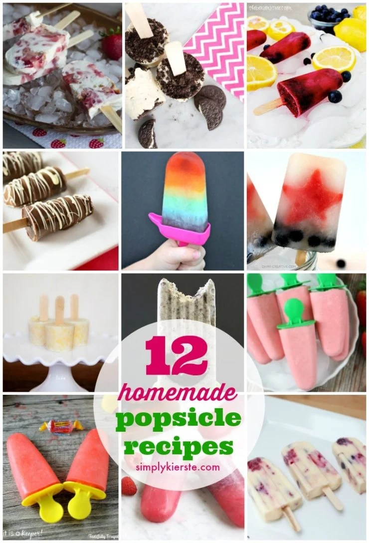 12 Homemade Popsicle Recipes | oldsaltfarm.com