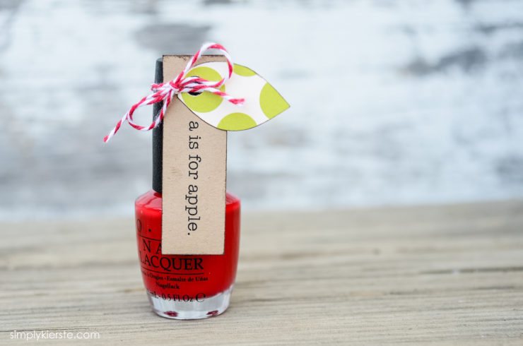 Back-to-School Apple Nail Polish| Teacher Gift Idea | oldsaltfarm.com
