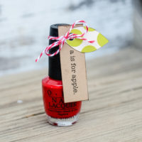 Back-to-School Apple Nail Polish| Teacher Gift Idea | oldsaltfarm.com