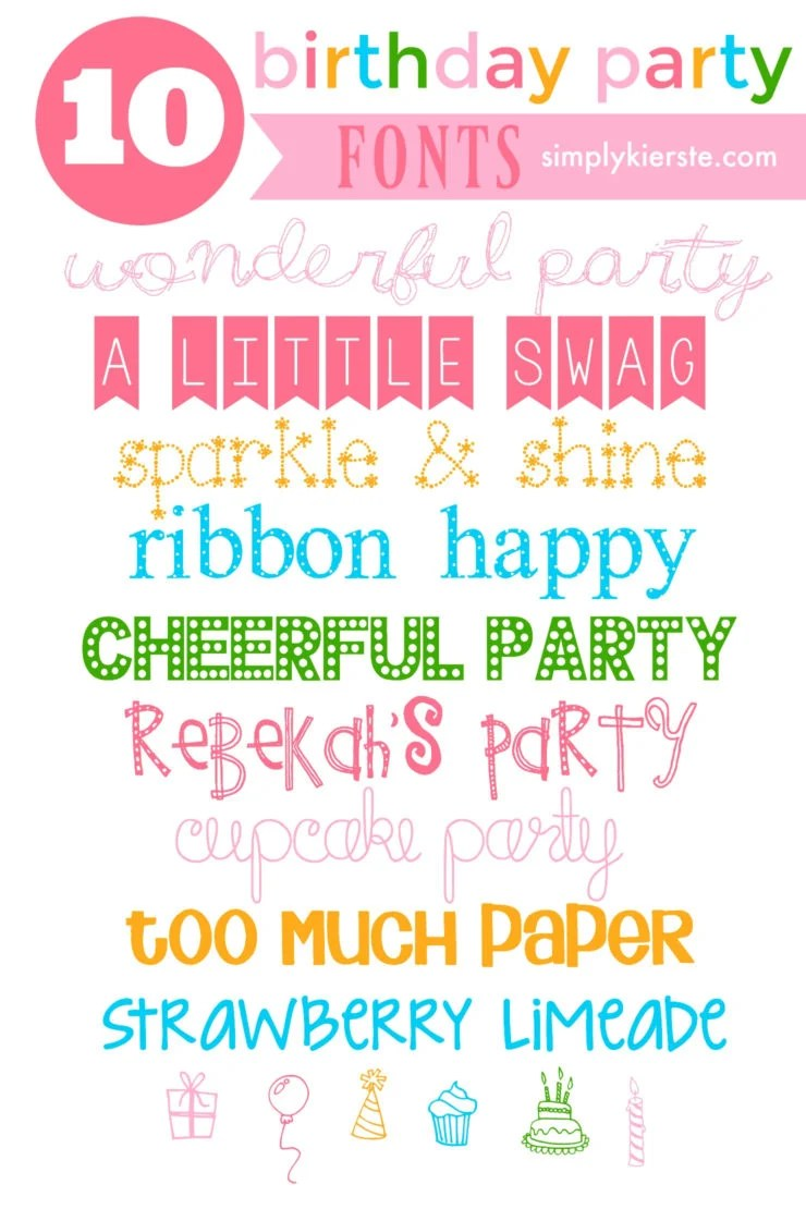 10 Favorite Birthday Fonts | oldsaltfarm.com