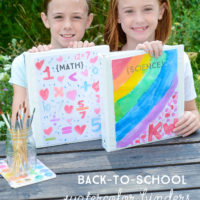 Back-to-School Watercolor Binders | oldsaltfarm.com