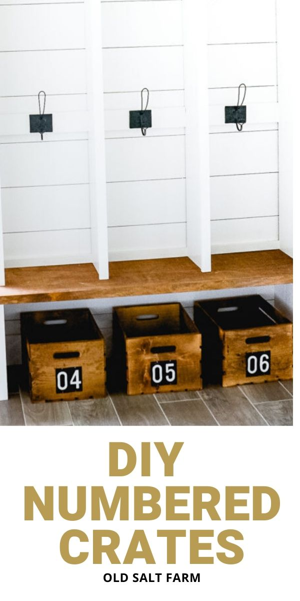 DIY Numbered Crates