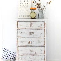 DIY Numbered Dresser Makeover