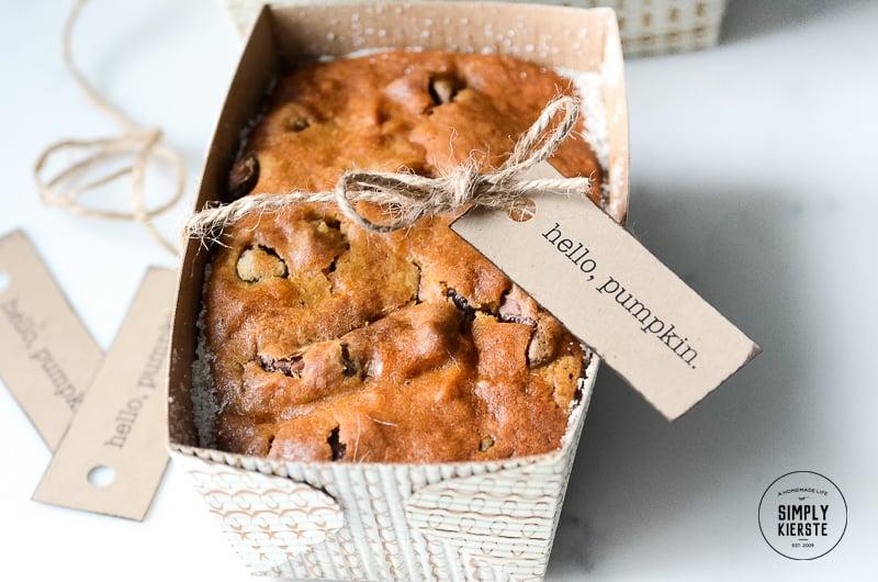 Pumpkin Bread Gift Idea   simply kierste.com