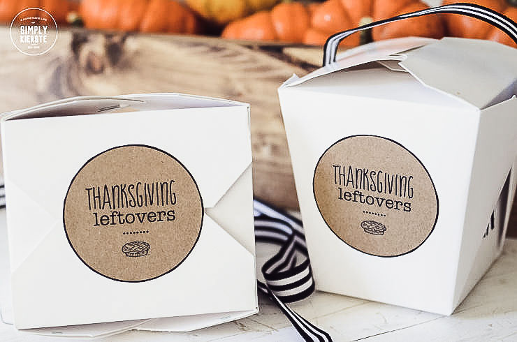 Thanksgiving Leftovers Printable Tag