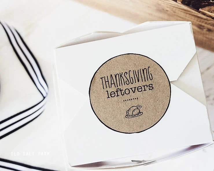 Thanksgiving Leftover Printables