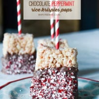 Chocolate Peppermint Rice Krispies Pops | oldsaltfarm.com