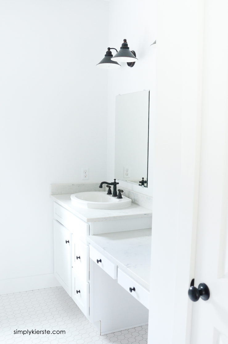 DIY Framed Mirrors Bathroom | simply kierste.com
