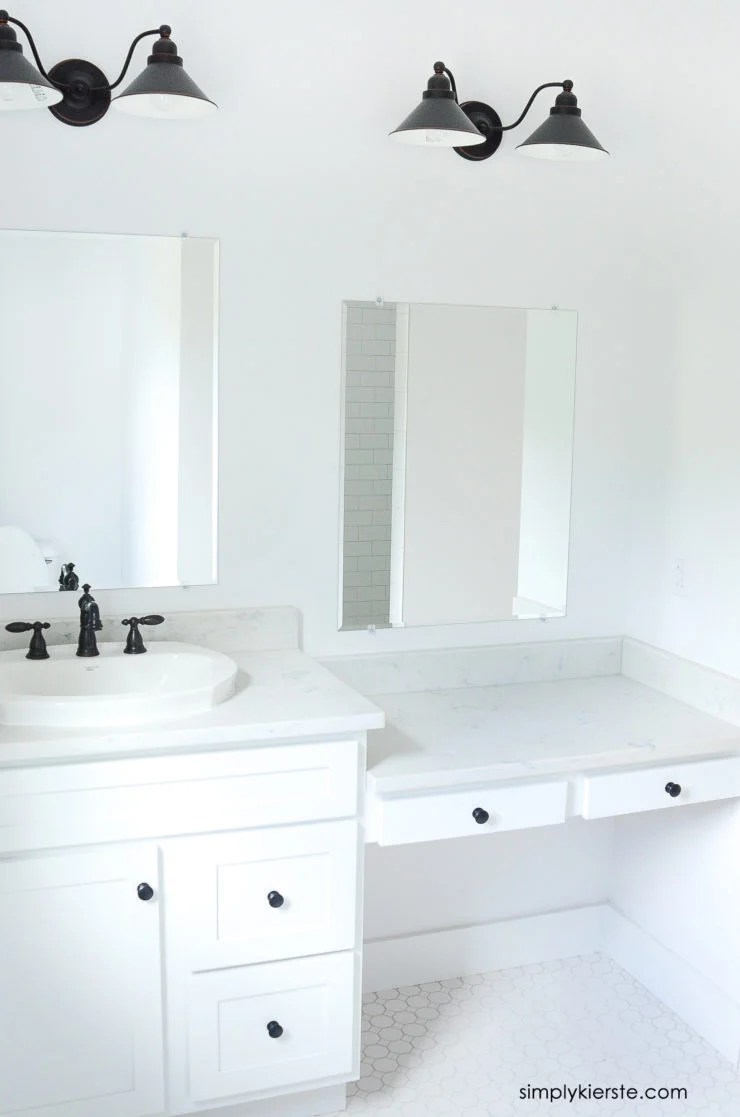 DIY Framed Mirrors Bathroom| simply kierste.com