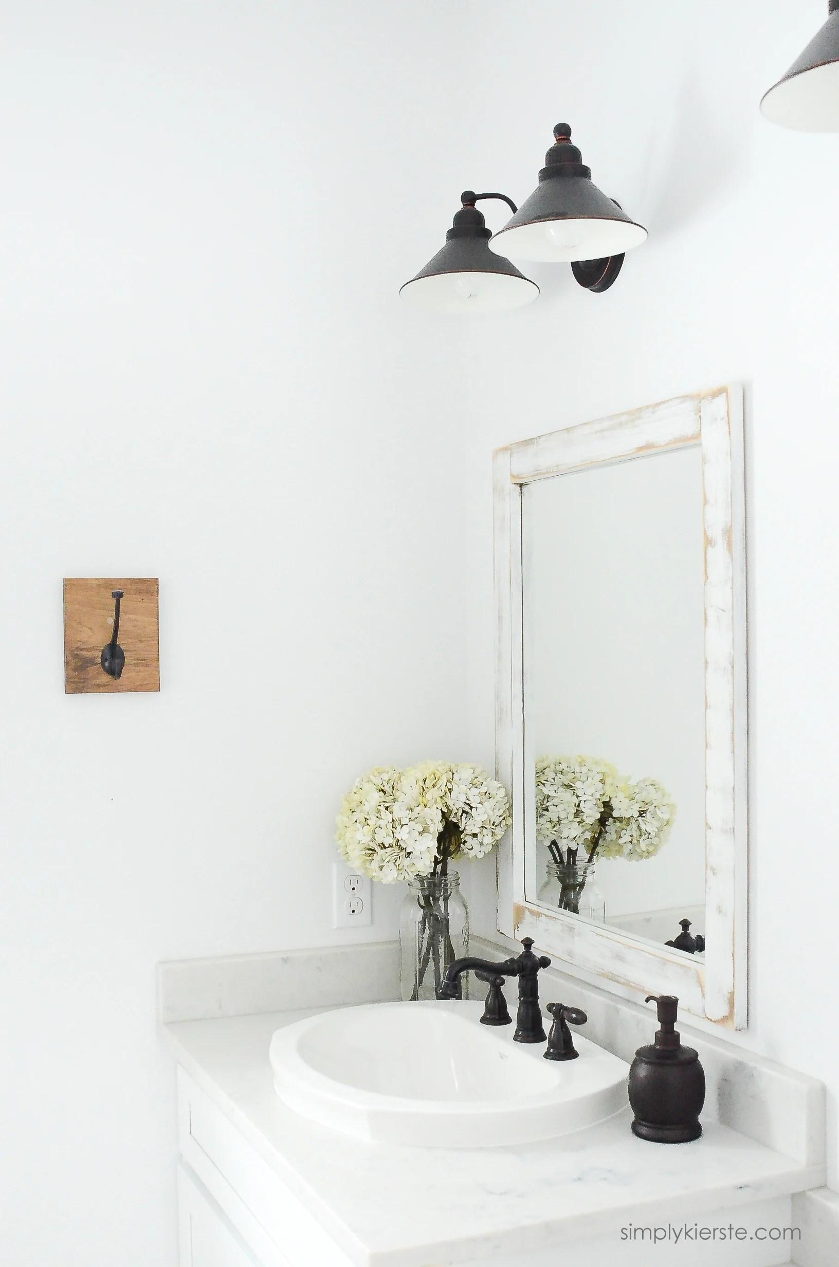 Farmhouse Bathroom Diy Framed Mirrors Old Salt Farm