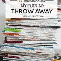 Things to Throw Away, Donate, or Recycle | Get Organized! | simply kierste.com #organizingtips #organizingideas #thingstothrowaway #decluttering #whattothrowaway #howtoorganize #whattoorganize #organizationideas #organizationmethods