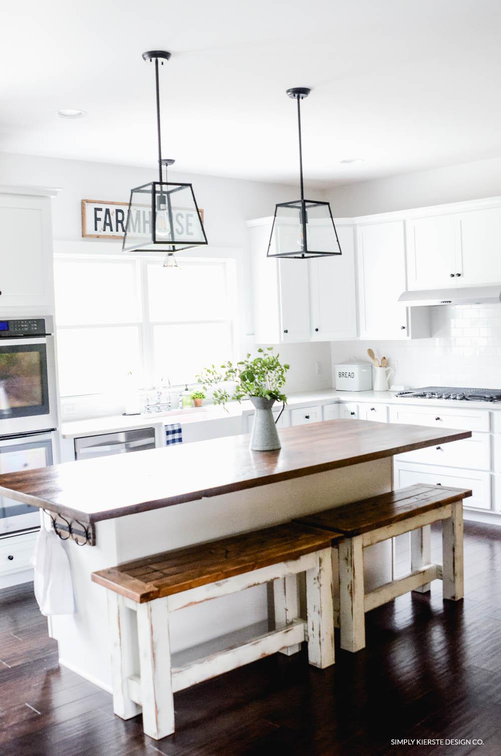 Diy Kitchen Benches Budget Kitchen Ideas Old Salt Farm