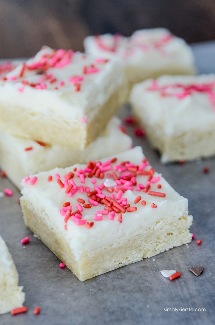 Soft & Fudgy Sugar Cookie Bars | simply kierste.com