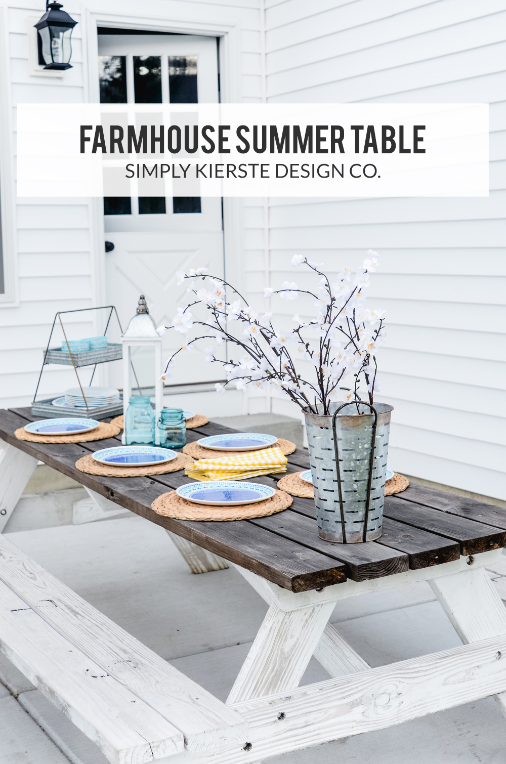 farmhouse summer table | oldsaltfarm.com