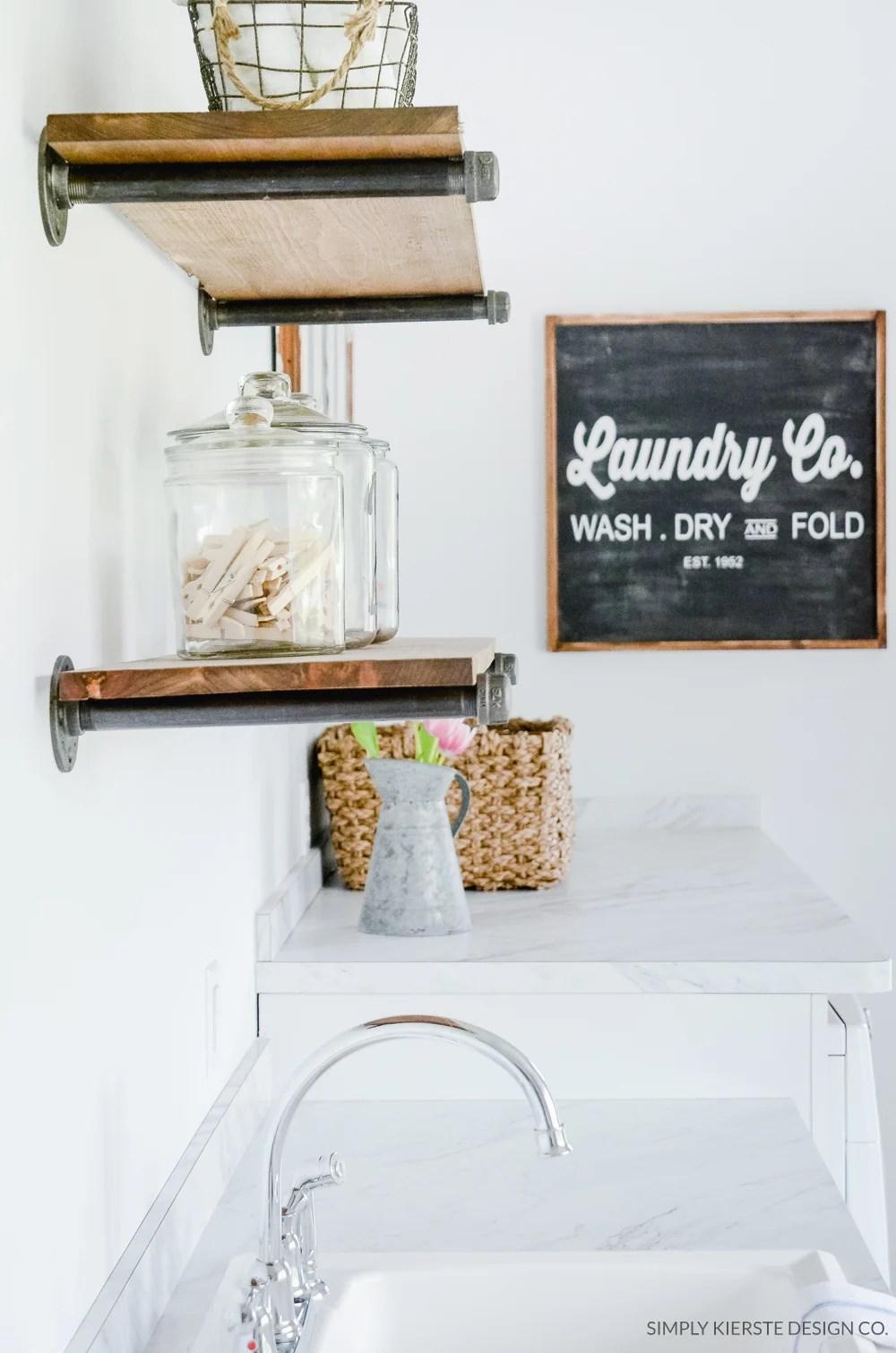 DIY Farmhouse Shelves | oldsaltfarm.com
