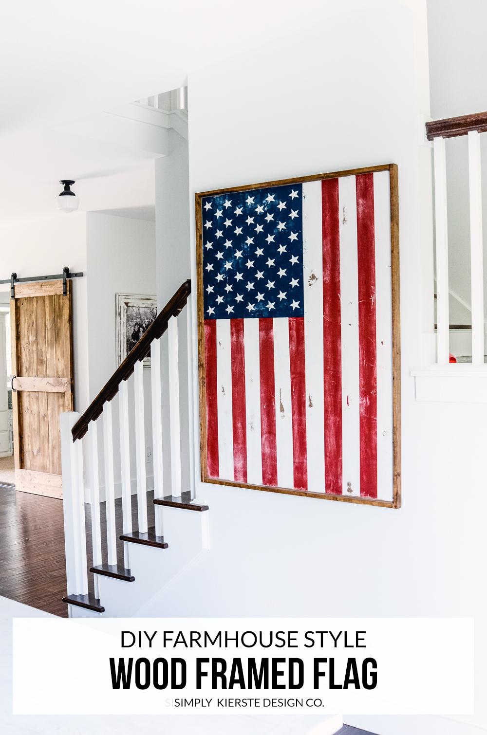 DIY Wood Framed Flag   simply kierste.com