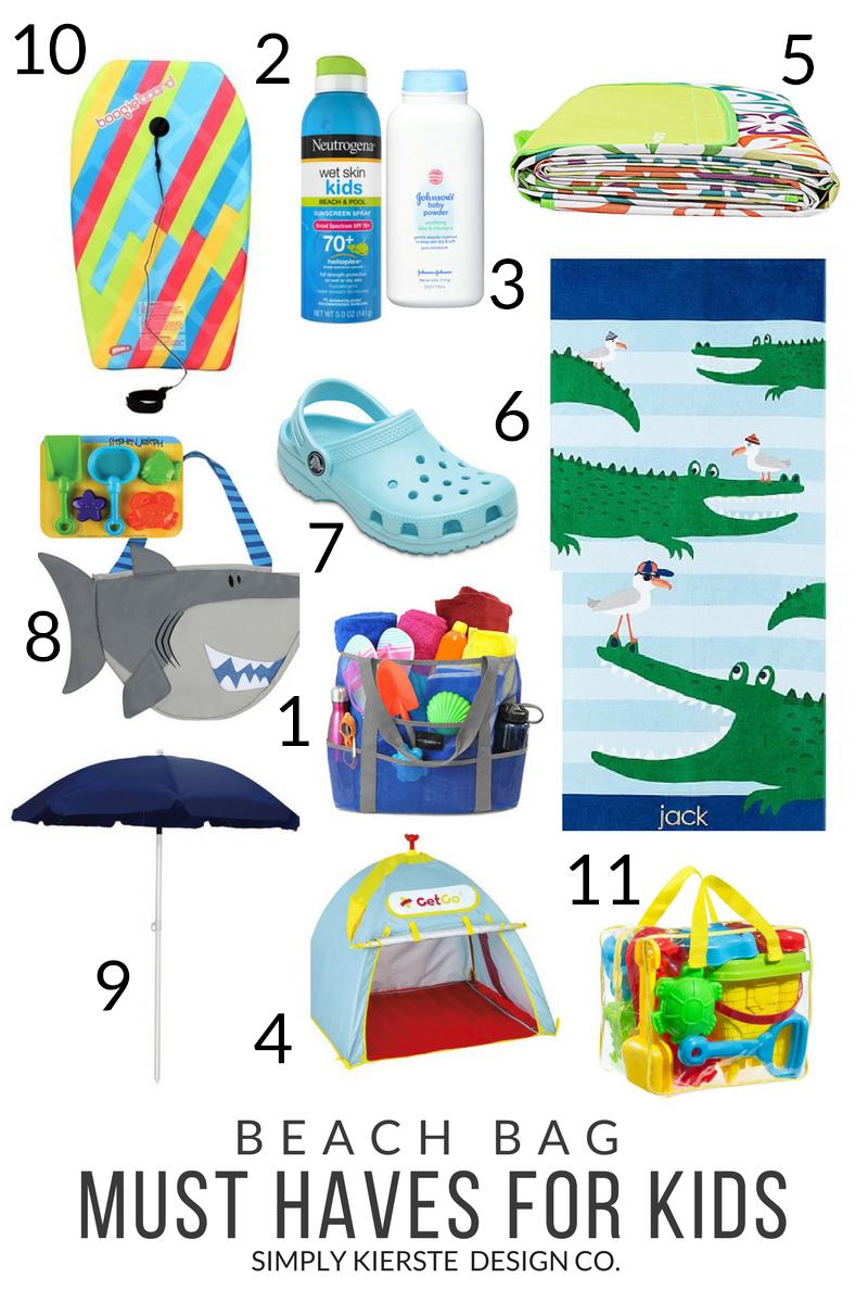 Beach Bag Must Haves For Kids | simply kierste.com