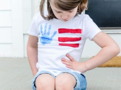 DIY Handprint Flag Tee