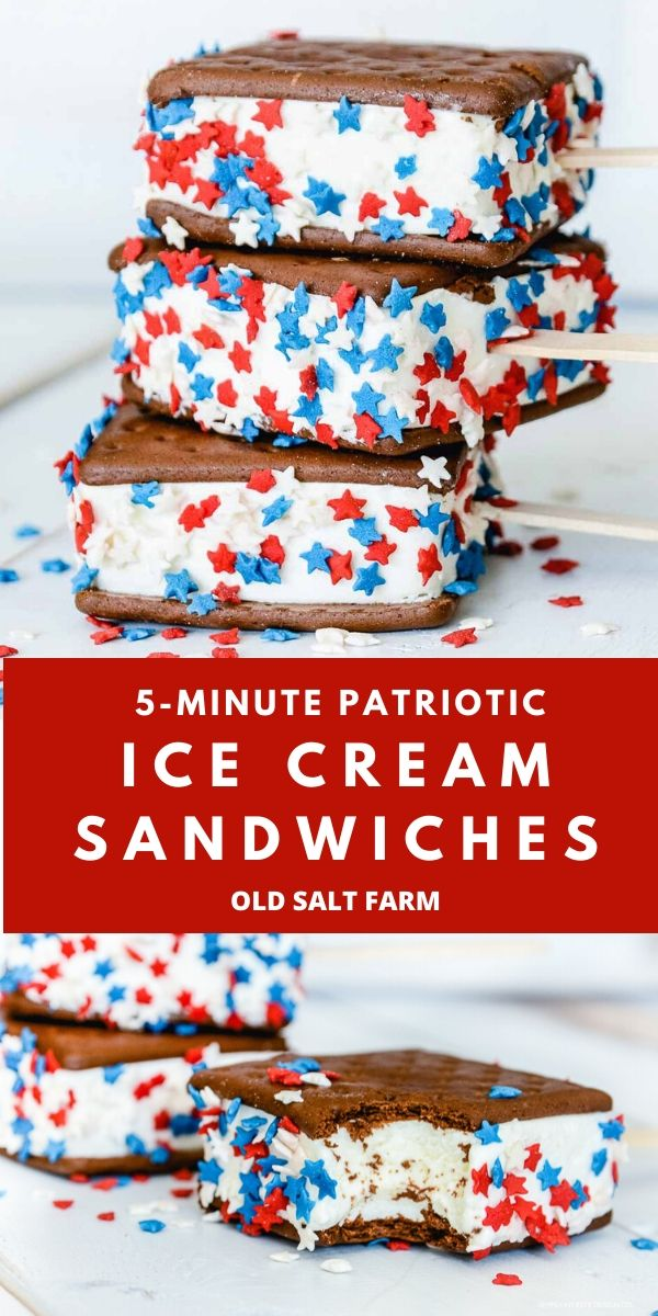 4th of July Ice Cream Sandwiches
