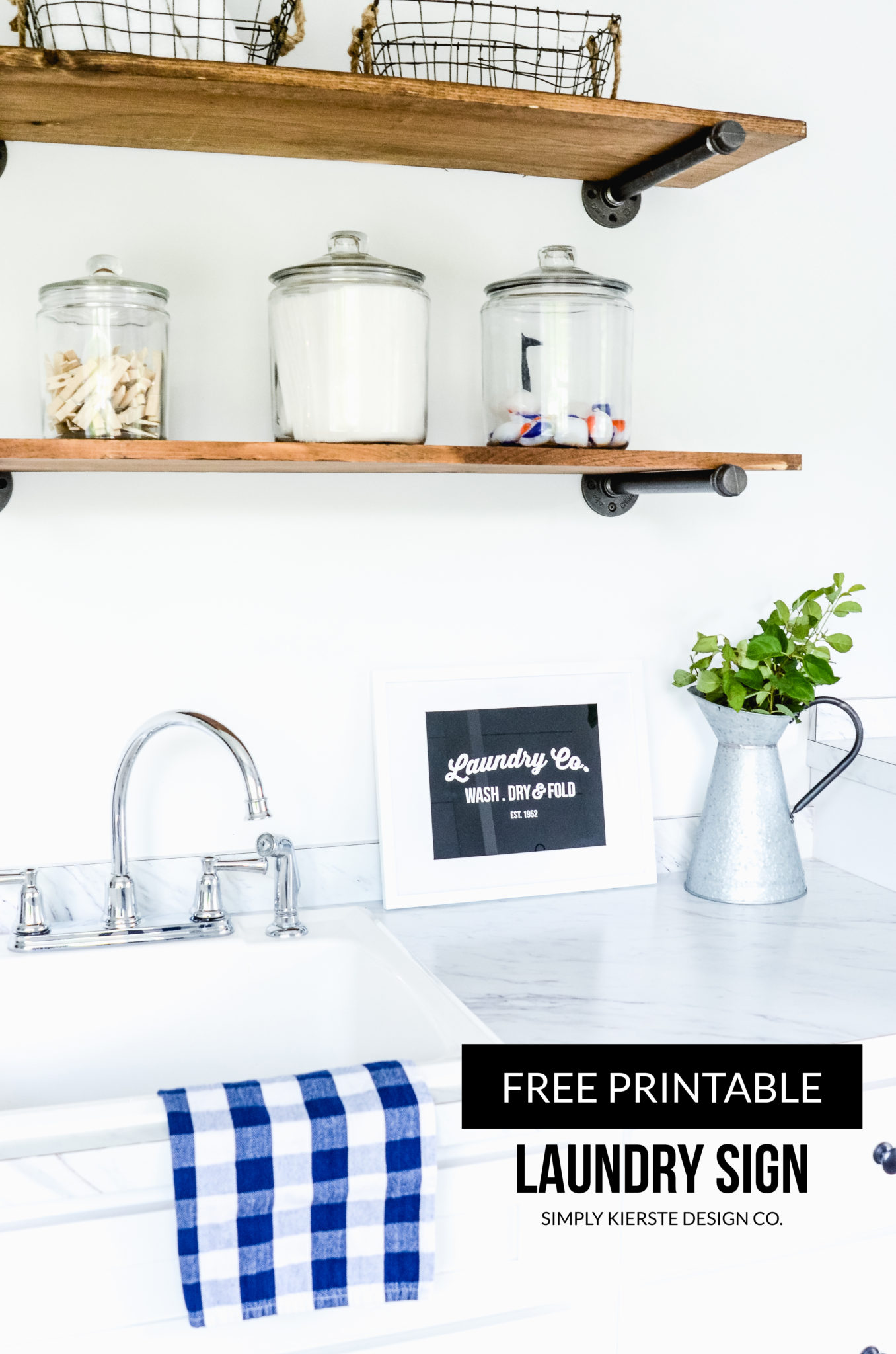 Printable Laundry Sign | simply kierste.com