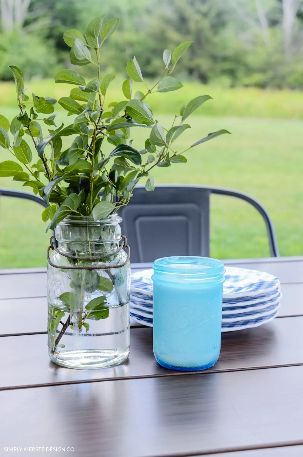 How to Make Farmhouse Style Mason Jar Citronella Candles | oldsaltfarm.com