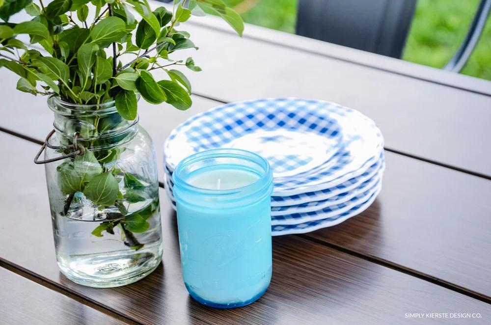How to Make Farmhouse Style Mason Jar Citronella Candles | oldsaltfarm.com