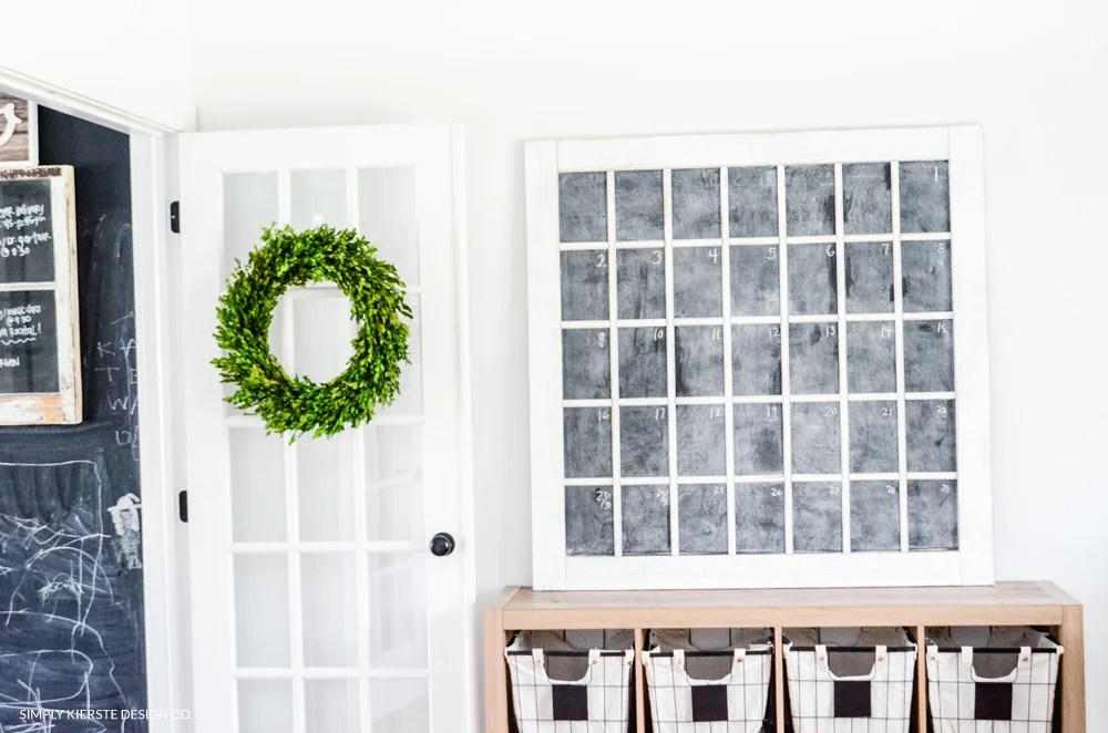 DIY Faux Chalkboard Window | Farmhouse Style | oldsaltfarm.com