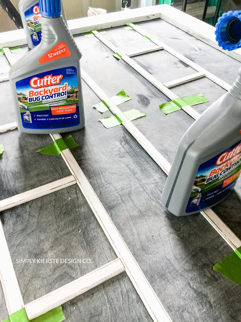 DIY Faux Chalkboard Window   Farmhouse Style   oldsaltfarm.com