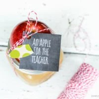 Apple Caramel Dip Teacher Gift | oldsaltfarm.com