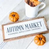 Farmhouse Fall Wood Sign | Autumn Market | oldsaltfarm.com
