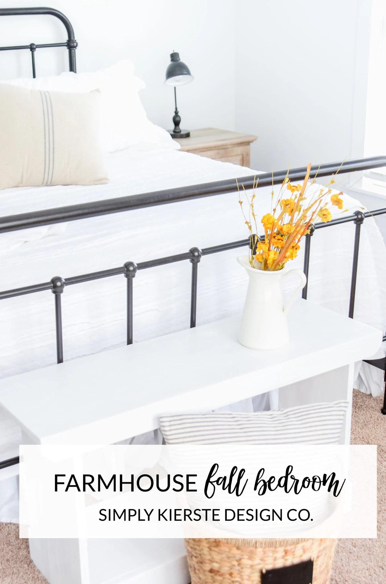 Farmhouse Bedroom Fall Decor | oldsaltfarm.com