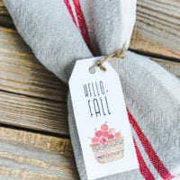 Vintage Hello Fall Gift Tags