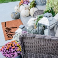 Simple Fall Porch | Better Homes & Gardens | oldsaltfarm.com