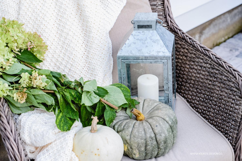 Simple Fall Porch | Better Homes & Gardens | Fall Porch Ideas | oldsaltfarm.com