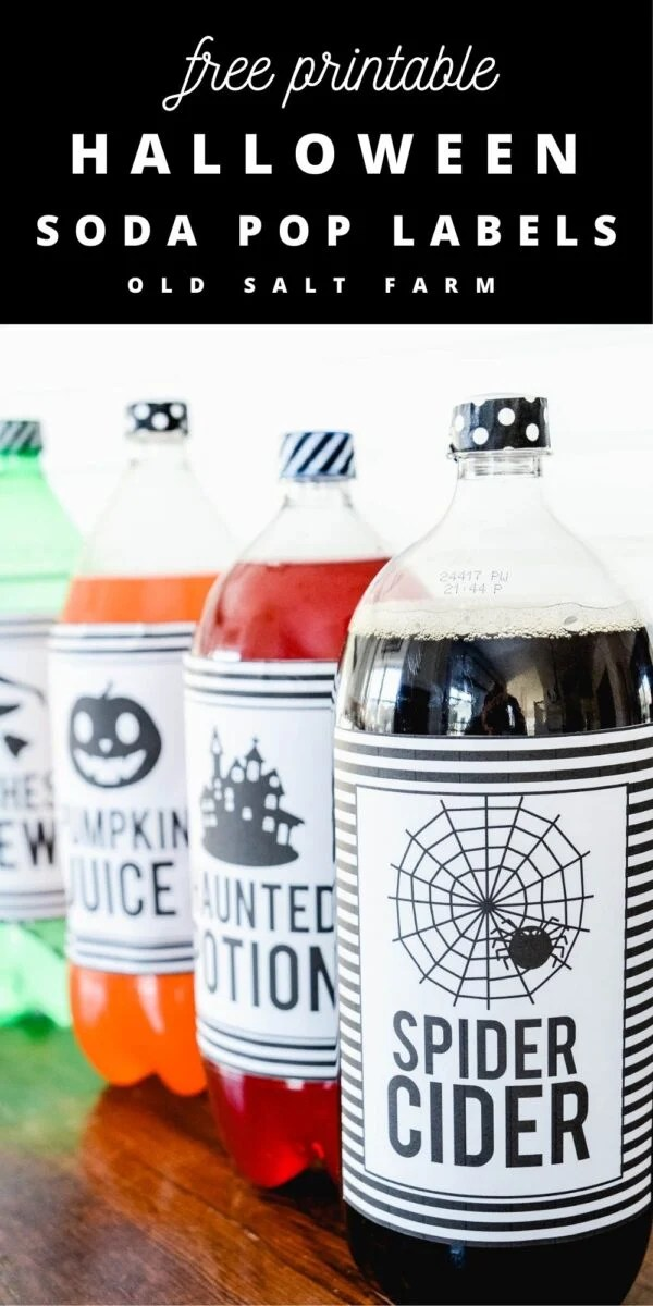 Halloween Soda Pop Labels Printables