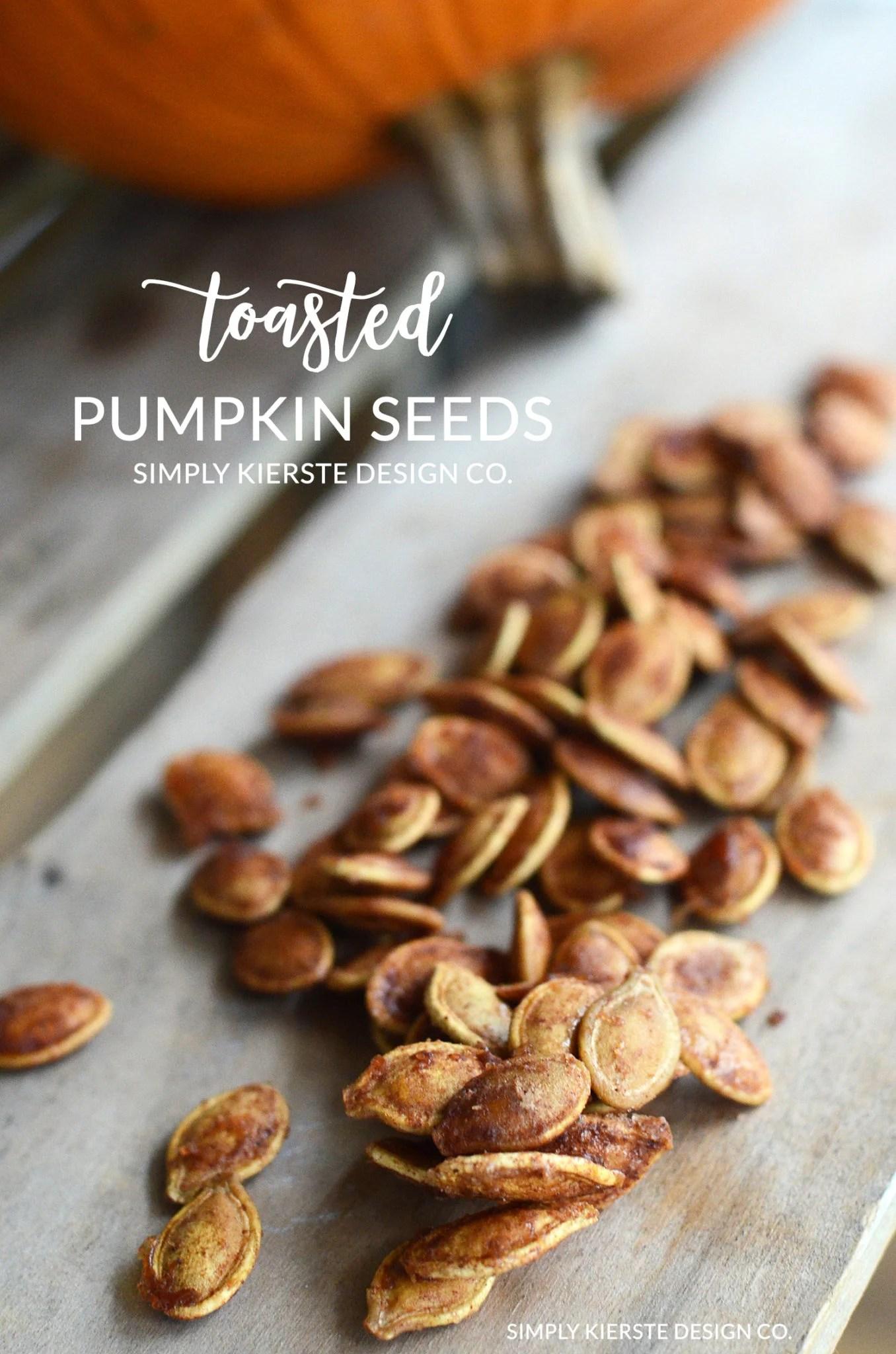 Toasted Pumpkin Seeds   Cinnamon & Sugar Pumpkin Seeds   Fall Recipes   oldsaltfarm.com