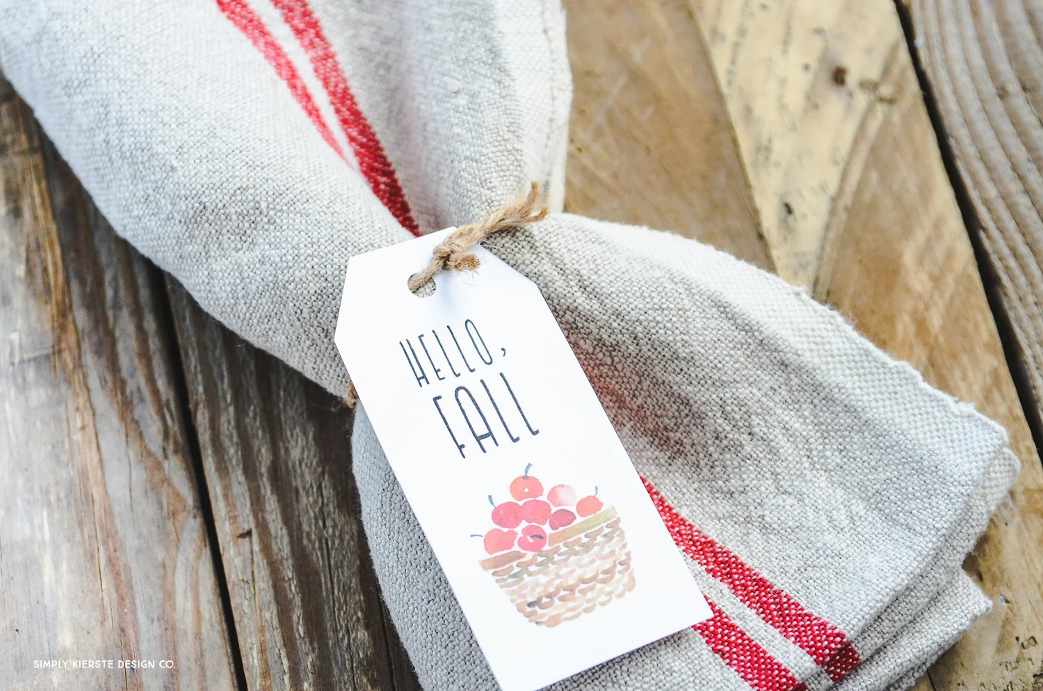 Vintage Fall Gift Tags | Hostess Gifts | oldsaltfarm.com