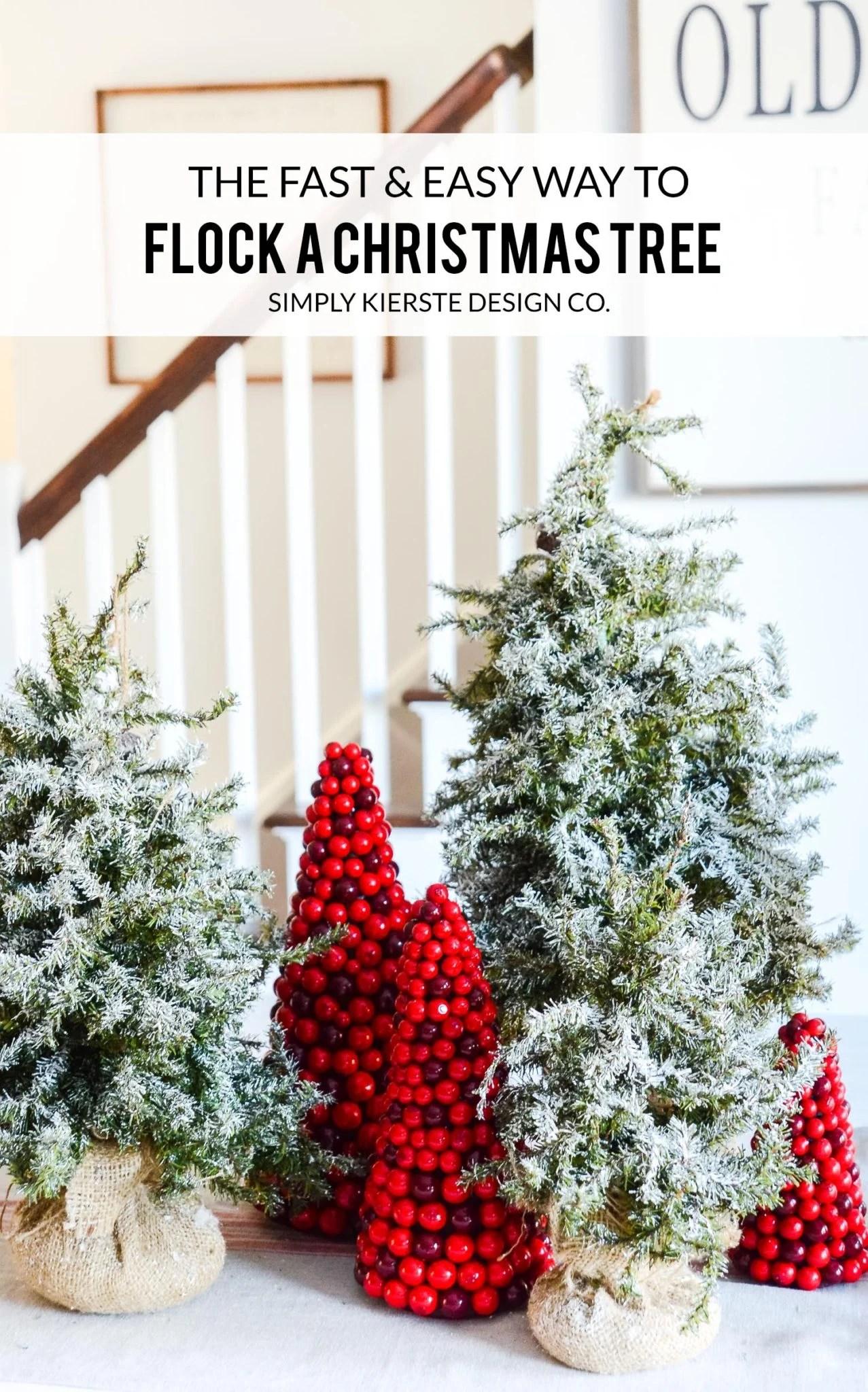 How to Flock a Christmas Tree the EASY way!   oldsaltfarm.com #diyflockedtree #flockedchristmastree #diychristmasdecor