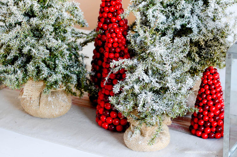 How to Flock a Christmas Tree the EASY way!   oldsaltfarm.com #diyflockedtree #flockedchristmastree