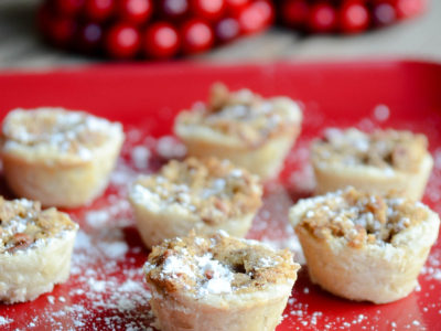 Pecan Tassies | Favorite Cookie Recipes | oldsaltfarm.com #christmascookies #easycookies #holidaydesserts #holidaytreats