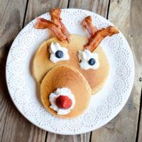 Rudolph Pancakes | Christmas Breakfast | oldsaltfarm.com