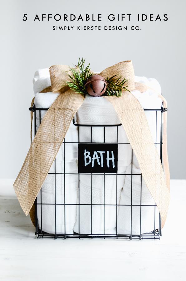 5 Affordable Christmas Gift Ideas | oldsaltfarm.com #easychristmasgifts #affordablegiftideas #giftsonabudget