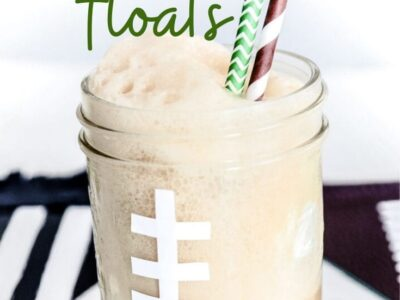 Football Root Beer Floats