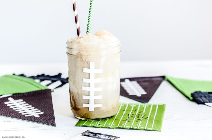 Mason Jar Football Root Beer Floats
