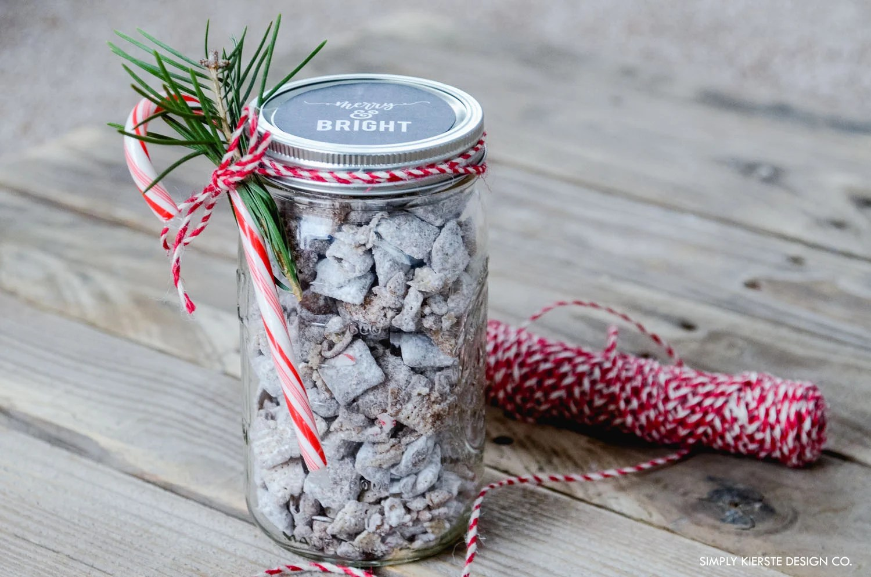 Mason Jar Christmas Gift Idea Chalkboard Printable Old Salt Farm