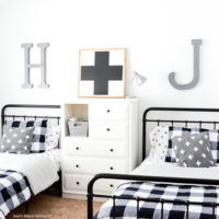 Black Buffalo Check Bedroom