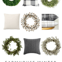 Farmhouse Winter Decor: Wreaths & Pillows | oldsaltfarm.com #farmhousestyle #farmhousedecor #farmhousewinterdecor #farmhousewreaths #farmhousepillows